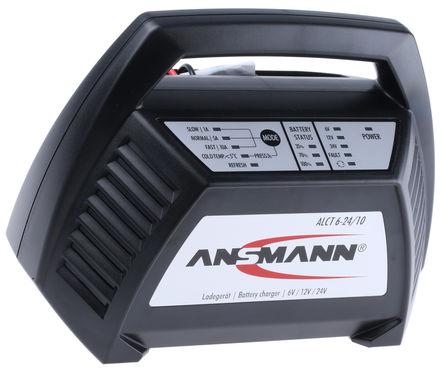 Ansmann - 1001-0014-UK520 - Ansmann 铅酸电池充电器 1001-0014-UK520, 3充电阶段, 230V ac输入, 6 V, 12 V, 24 V输出@1 A, 5 A, 10 A