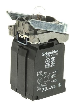 Schneider Electric - ZB4BV5 - Schneider Electric XB4 系列 照明块 ZB4BV5 白炽灯, BA 9s 基座安装接端