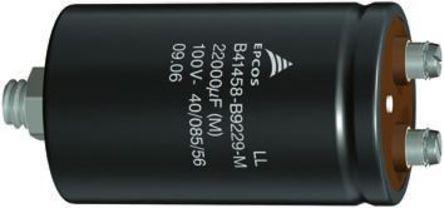 EPCOS - B41570A9229Q - EPCOS B41570 系列 100 V 直流 22000μF 铝电解电容器 B41570A9229Q, 11mΩ(等值串联), 最高+105°C