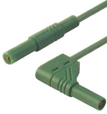 Hirschmann Test & Measurement - 934083104 - Hirschmann Test & Measurement 934083104 绿色 测试引线, 32A额定电流, 1000V ac/dc, 公至公, 1m长