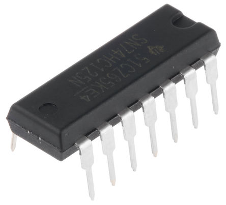 Texas Instruments - SN74HC125NE4 - Texas Instruments SN74HC125NE4 HC 系列 4位 三�B 非反相 ��_器,�路��悠�, 14引�_ PDIP封�b