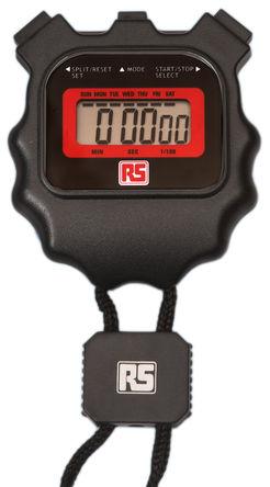 RS Pro - 509RS - RS Pro 509RS 黑色 袖珍型 1/100s 电池运作 数字 秒表, 尺寸64 x 58mm