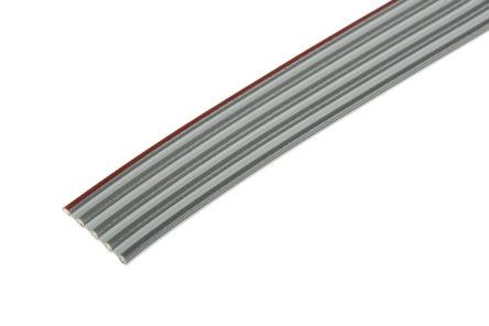 3M - 8124/5 100 - 3M 5 路 2.54mm节距 灰色 无屏蔽 带状电缆 8124/5 100, 11.89 mm 宽