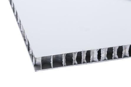 RS Pro - 69674/C - RS Pro 铝板 69674/C, 600mm长 x 600mm宽 x 15mm厚, 适合于艺术天花板、阳台、建筑物表面包层、屋顶、遮蔽区