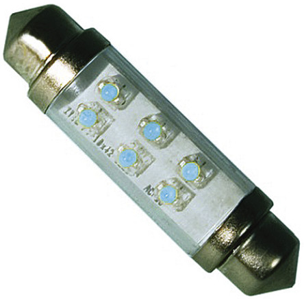 JKL Components - LE-0603-04B - JKL Components 蓝色光 尖浪形 LED 车灯 LE-0603-04B, 43 mm长 10.5mm直径, 24 V 直流 12 mA, 2 lm
