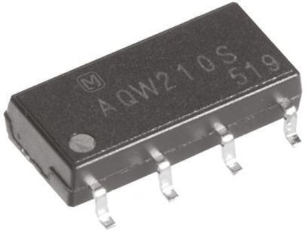 Panasonic - AQW214S - Panasonic 0.08 A PCB安装 DPNO 固态继电器 AQW214S, MOSFET输出, 400 V