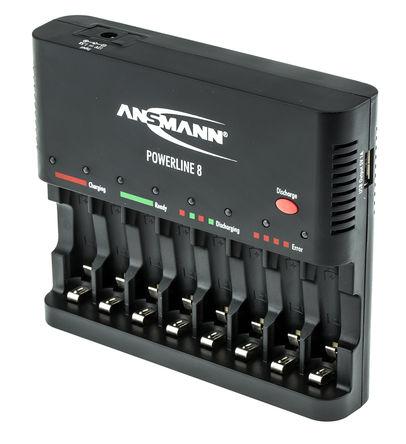 Ansmann - 1001-0006-520 - Ansmann 1001-0006-520 8 (AA)/8 (AAA) 镍镉/镍氢电池 电池充电器, 全世界的插头