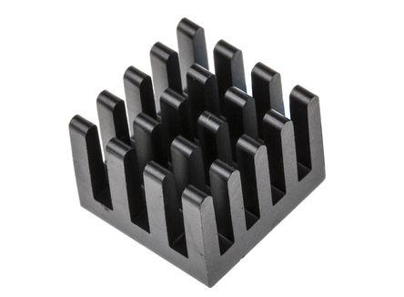 ABL Components - BGA STD 010 - ABL Components 黑色 散热器 BGA STD 010, 27K/W, 胶粘箔片安装, 13 x 13.5 x 10mm