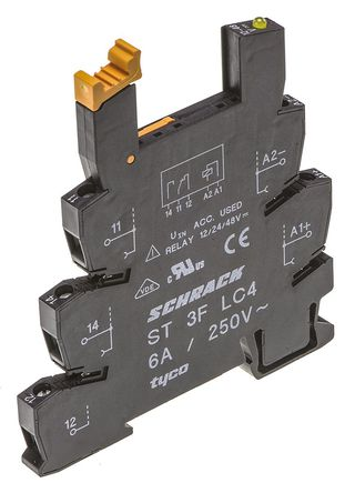 TE Connectivity - ST3FLC4 - TE Connectivity 继电器插座 ST3FLC4, 适用于SNR 系列