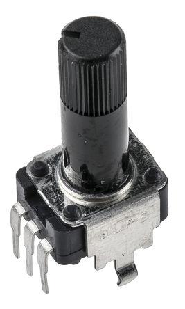 Alps - RK09K1130A0H - Alps RK09K 系列 10kΩ ±20% 线性 碳膜电位计 RK09K1130A0H, 0.05W, 6 mm 直径轴, 面板安装(通孔)