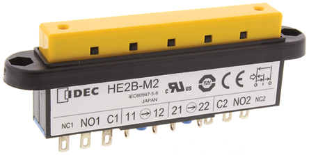 Idec - HE2B-M222 - Idec HE2B-M222 IP40 Off-On-Off 面板安装 启动开关