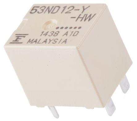 Fujitsu - FBR53ND12-Y-HW - Fujitsu FBR53ND12-Y-HW 单刀单掷 PCB 安装 非闭锁继电器, 12V