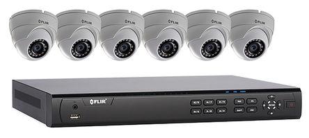 FLIR - DN408P2E6P - FLIR DN408P2E6P 室��、 室外 8�z影�C RJ45 �t外 FHD 彩色 CCTV 套件 DN408P2E6P