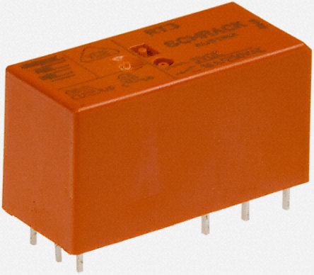 TE Connectivity - RT314A06 - TE Connectivity RT314A06 单刀双掷 PCB 安装 自锁继电器, 6V dc, 适用于电源应用