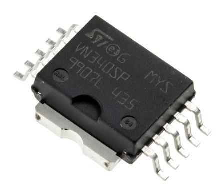 STMicroelectronics - VN340SP-E - STMicroelectronics VN340SP-E 4输出 智能电源开关, 高侧固态继电器, 0.7A, 36V, 10引脚 SOIC封装