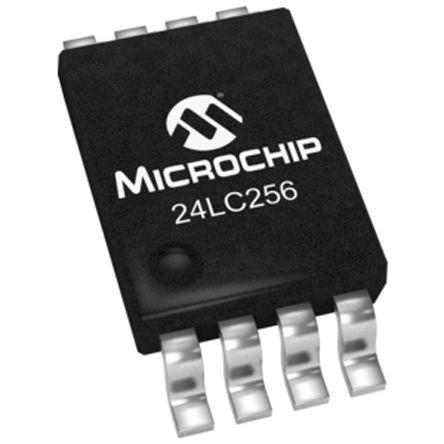 Microchip - 24LC256-I/ST - Microchip 24LC256-I/ST 串行 EEPROM 存�ζ�, 256kbit, 串行 - I2C接口, 900ns, 2.5 → 5.5 V, 8引�_ TSSOP封�b