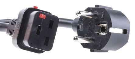 Schaffner - IL19-EU1-H05-3150-200 - Schaffner 电缆安装 C20 插座 电源线 IL19-EU1-H05-3150-200, 额定16A, 250 V 交流/直流