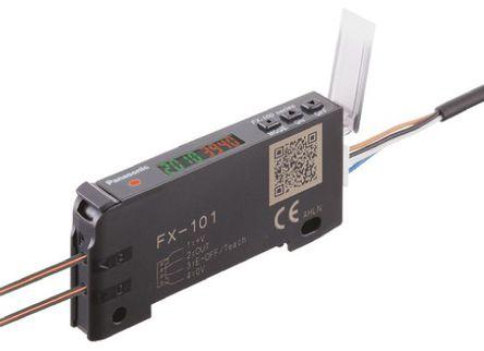Panasonic - FX101PCC2 - Panasonic FX101PCC2 光纤传感器, PNP输出, 720 mW, 12 → 24 V 直流