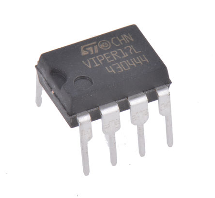 STMicroelectronics - VIPER17LN - STMicroelectronics VIPER17LN 交直流转换器, 8.5 → 23.5 V输入, 7引脚 PDIP封装
