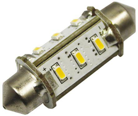 JKL Components - LE-3042-02WW - JKL Components 暖白色光 尖浪形 LED 车灯 LE-3042-02WW, 42 mm长, 30 V 直流 70 mA, 55 → 65 lm