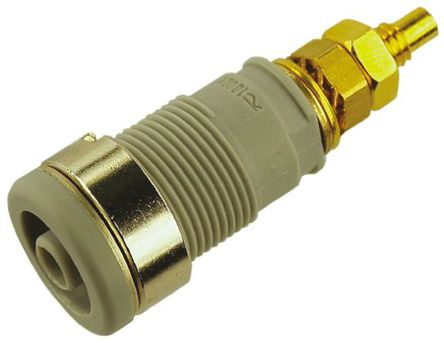 Hirschmann Test & Measurement - 972354106 - Hirschmann 972354106 灰色 4mm 插座, 1000V ac/dc 32A, 镀金触点