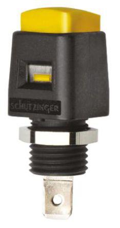 Schutzinger - ESD 498 / GE - Schutzinger ESD 498 / GE 黄色 香蕉插头, 33 V ac, 70 V dc 16A, 镀镍触点