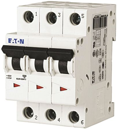 Eaton - FAZ6-C4/3 - Eaton xEffect FAZ6 系列 3�O 4 A MCB 微型�嗦菲� FAZ6-C4/3, 6 kA �嚅_能力, C型 跳�l特性