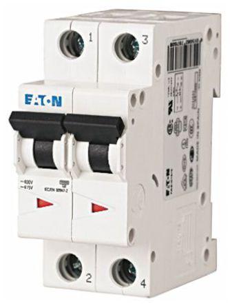 Eaton - FAZ6-B63/2 - Eaton xEffect FAZ6 系列 2极 63 A MCB 微型断路器 FAZ6-B63/2, 6 kA 断开能力, B型 跳闸特性