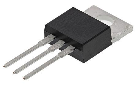 STMicroelectronics - BTB16-600BRG - STMicroelectronics BTB16-600BRG 三端双向可控硅开关元件, 16A额定, 600V峰值, 100mA 1.3V触发, 3引脚 TO-220AB封装