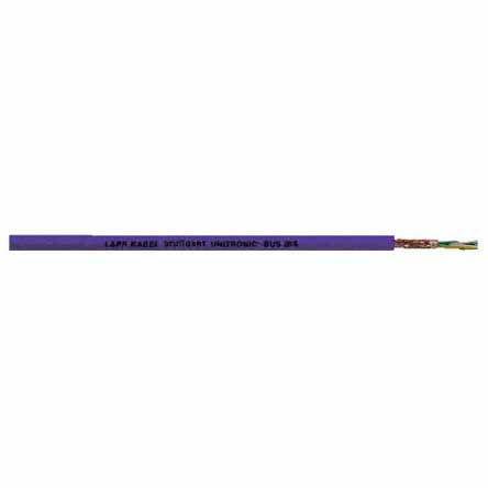 Lapp - 2170206 - Lapp 2 芯 紫色 聚氯乙烯 PVC护套 总线电缆 2170206, 7.2mm 外径