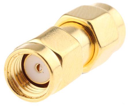 RF Solutions - ADP-SMAM-SMAMRP - RF Solutions 50Ω 直 射频适配器 ADP-SMAM-SMAMRP, 3GHz, SMA 插头 到 SMA 插头, 金镀镍触芯