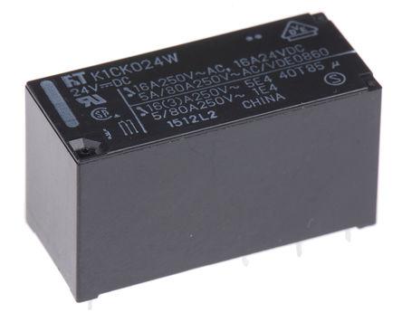 Fujitsu - FTR-K1CK024W - Fujitsu FTR-K1CK024W 单刀双掷 PCB 安装 非闭锁继电器, 24V