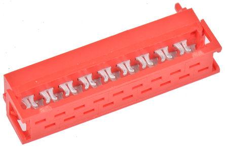 TE Connectivity - 1-215083-8 - TE Connectivity Micro-Match 系列 2行 18路 1.27mm节距 公 IDC 连接器 1-215083-8, 电缆安装