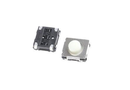Panasonic - EVQQ2F03W - Panasonic 白色 推入板 触觉开关 EVQQ2F03W, 单刀单掷 - 常开, 20 mA 3.1mm