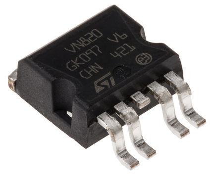 STMicroelectronics - VN820B5-E - STMicroelectronics VN820B5-E MOSFET 功率驱动器, 9A, 非反相, 5引脚 P2PAK封装