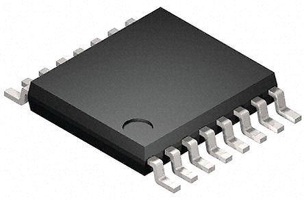 STMicroelectronics - STAP08DP5XTTR - STMicroelectronics STAP08DP5XTTR LED 驱动器, 3 → 5.5 V, 16引脚 TSSOP封装