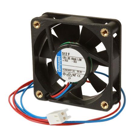 ebm-papst - 4414ML-RS0 - ebm-papst 4414 ML 系列 3.2W 24 V 直流 轴流风扇 4414ML-RS0, 168m3/h, 3000rpm, 119 x 119 x 38mm