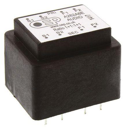 OEP - A262A6E - 通孔 音频变压器 150Ω 100mW Hz @ 300, 1mW Hz @ 30
