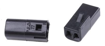 Delphi - 12047662 - Delphi Metri-Pack 150 系列 2路 电缆安装 黑色 母 连接器 12047662, 压接端接