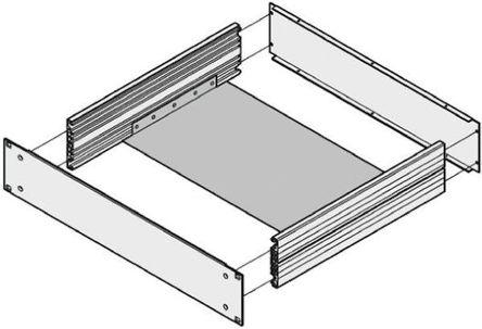 Schroff - 20860111 - Schroff 铝 机箱板 20860111, 403 x 390 x 12mm, 使用于19 英寸底盘