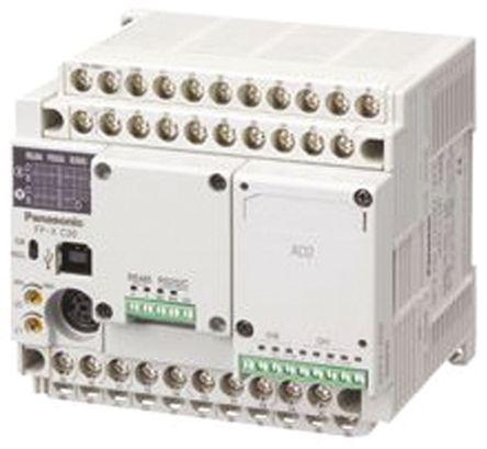 Panasonic - AFPX-C30R - Panasonic AFPX-C 系列 系列 PLC CPU AFPX-C30R, 64 MB内存, 以太网, 32 步编程容量, 40 I/O 端口, 115.2 kbps波特率, DIN导轨安装