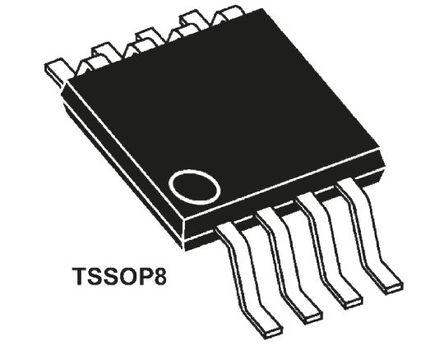 STMicroelectronics - M24128-BWDW6TP - STMicroelectronics M24128-BWDW6TP 串行 EEPROM 存储器, 128kbit, 串行 - I2C接口, 900ns, 2.5 → 5.5 V, 8引脚 TSSOP封装