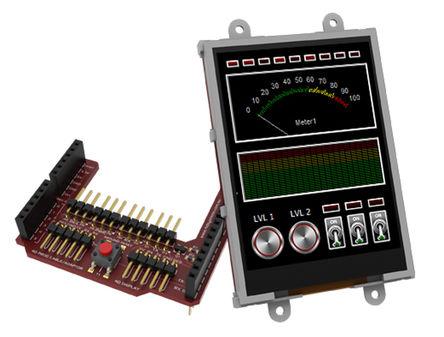 4D Systems - SK-32PTU-AR - 4D Systems Picaso 系列 3.2in TFT 触摸屏 触摸屏显示模块, 240 x 320pixels 分辨率 VGA, LED背光 串行 接口