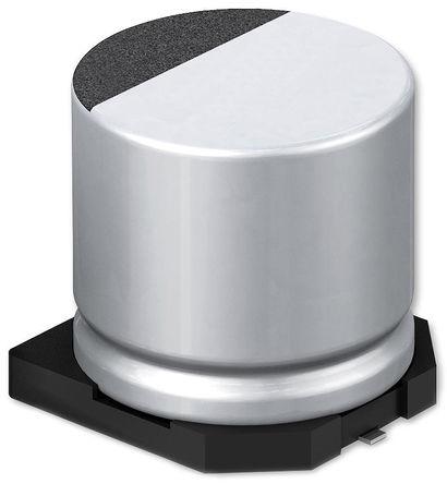 Panasonic - EEEFK1E391SP - Panasonic FKS 系列 25 V 直流 390μF SMD 铝电解电容器 EEEFK1E391SP, ±20%容差, 160mΩ(等值串联), 最高+105°C