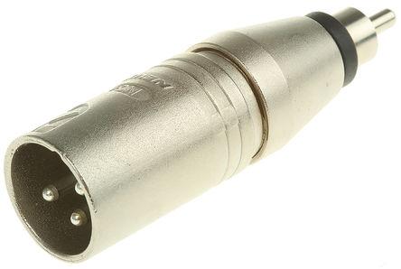 Neutrik - NA2MPMM - Neutrik 锌外壳 适配器 NA2MPMM, 镀银镀镍触点 公至RCA 公