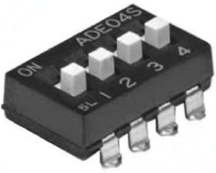 TE Connectivity - 1-1825058-9 - TE Connectivity 1-1825058-9 8位置 滑动 通孔 DIP 开关, 单刀单掷, 100 mA@ 24 V 直流