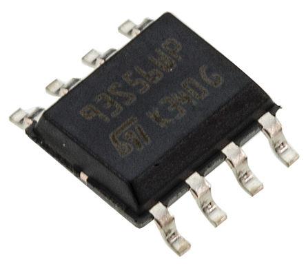 STMicroelectronics - M93S56-WMN6TP - STMicroelectronics M93S56-WMN6TP 串行 EEPROM 存储器, 2kbit, 串行 - Microwire接口, 2.5 → 5.5 V, 8引脚 SOIC封装