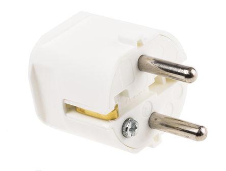 ABL Sursum - 1116110 - ABL Sursum 1116110 白色 2P+E 德�� 市� 插�^, �~定250 V 交流 16A