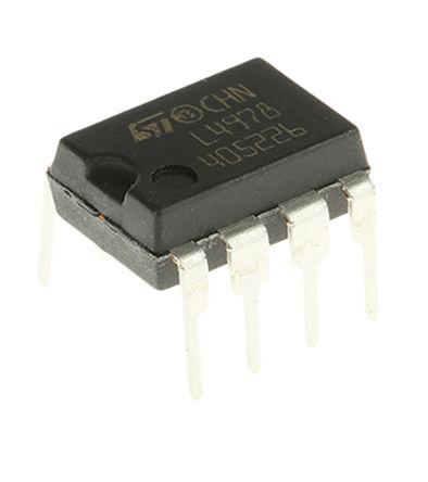 STMicroelectronics - L4978 - STMicroelectronics L4978 降压 开关稳压器, 8 → 55 V输入, 2A最大输出, 3.3 → 50 V输出, 300 kHz最高开关频率, 8引脚 PDIP封装