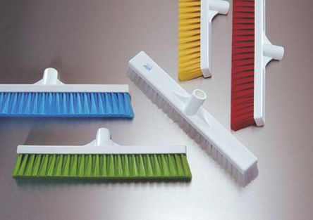Vikan - 31796 - Vikan 31796 黄色 软质 PET刷毛 扫帚, 60mm长刷毛, 410 x 50mm 一般用途